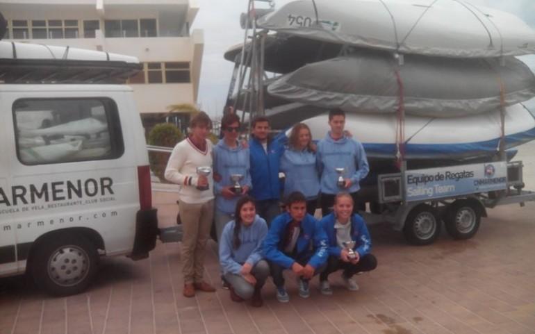 El Equipo de láser del CNMM arrasa en el TAP de Vela Juvenil de Santiago de la Ribera