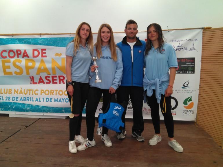 Barbara y Elena acarician el éxito en la Copa de España de Laser 4,7