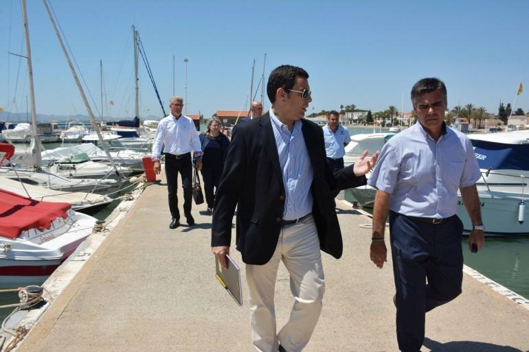 El nuevo Director General de Transportes, Costas y Puertos visita el CNMARMENOR