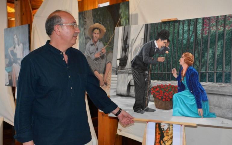 Exposición de pintura de Antonio Nicolás y de la maqueta del CNMARMENOR