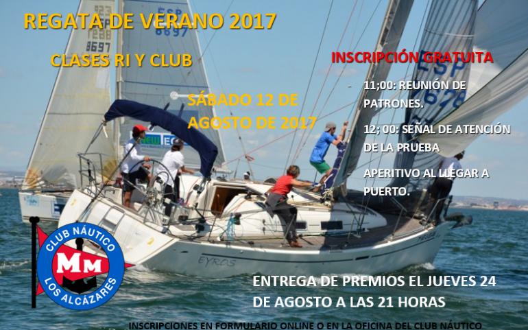 """Sábado 12 agosto gran regata verano 2017 """"#yosoydelmarmenor"""" para cruceros con inscripción gratuita"""