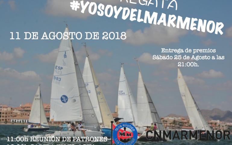 Inscripción gratuita para Cruceros en la regata #yosoydelmarmenor del 11 Agosto