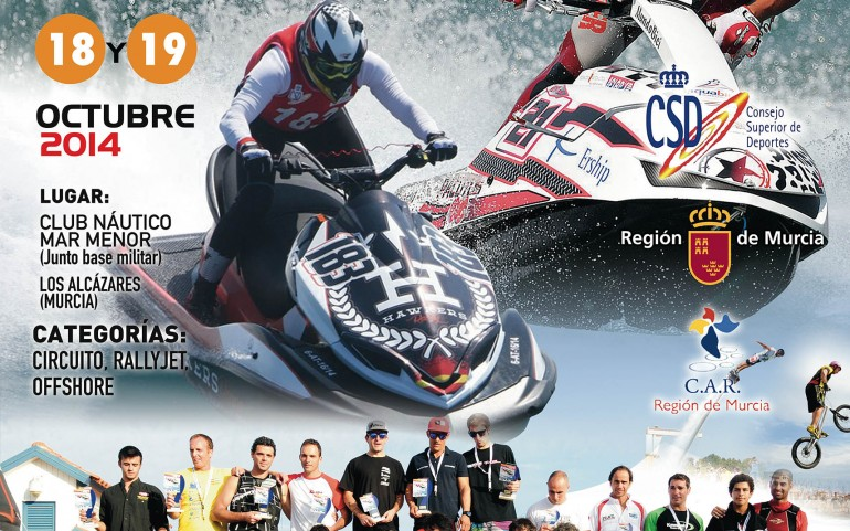 18 y 19 de Octubre Campeonato de España y Copa del Rey 2014 de motos acuáticas