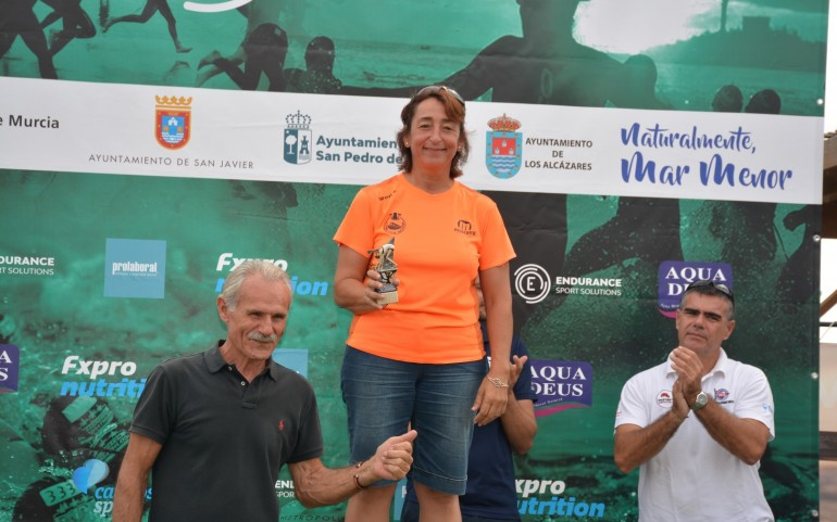 Natación en Los Alcázares con salida desde la Perdiguera (Fotos: José Mª Falgas)