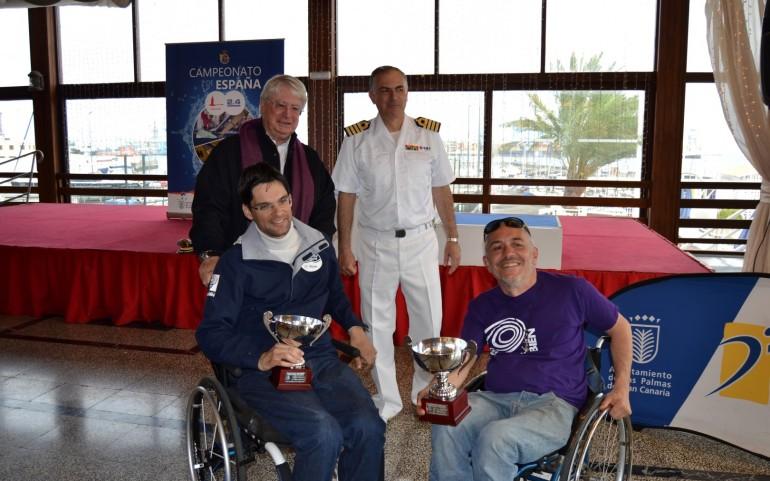 Barroso y González, del equipo Fundación También-CN Mar Menor, terceros en el Cpto. de España clases 2.4mR Y HANSA 303