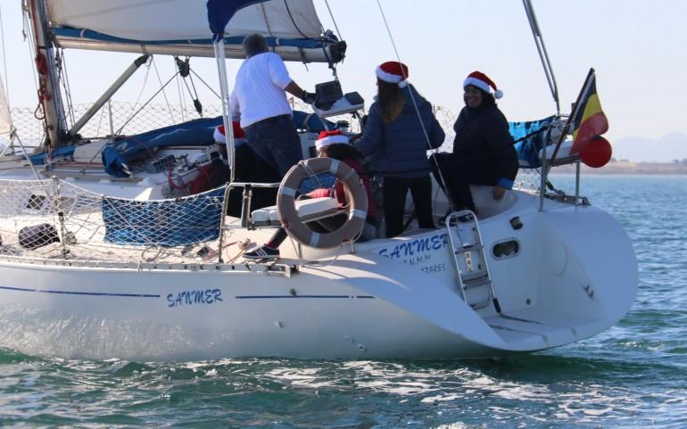 """El mayor número de cruceros participan en la """"XI Travesía del Turrón"""" (Fotos: Falgas)"""