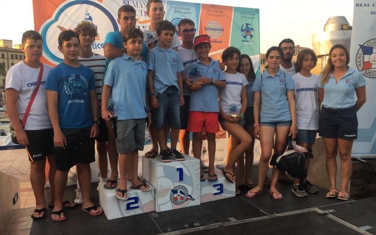 El Equipo CNMARMENOR de Optimist y Láser ARRASA en aguas de Melilla