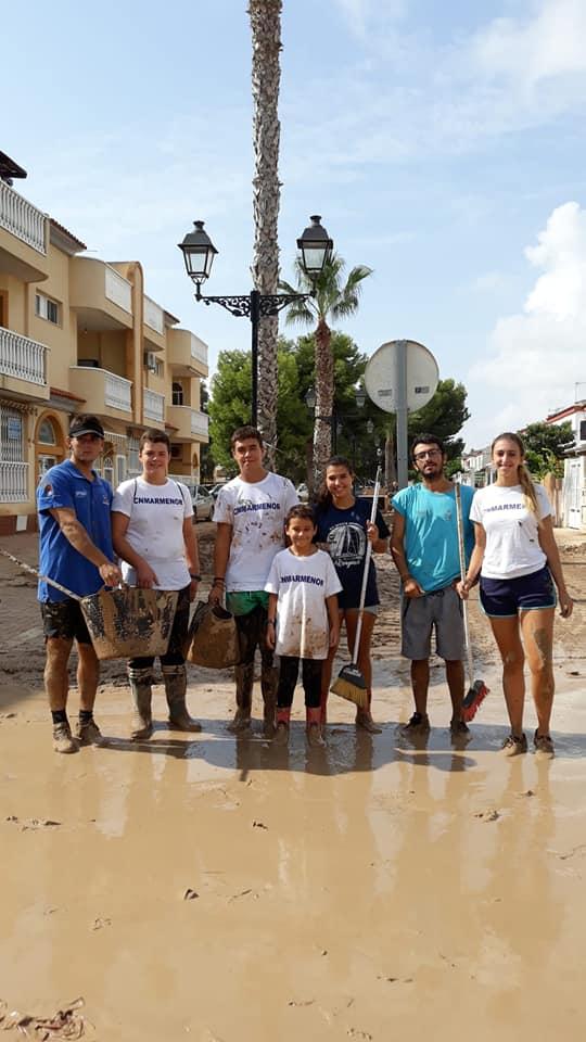 ECOMAR, Theresa Zabell y nuestro equipo de regatas ayudan a recuperar la normalidad en el pueblo de Los Alcázares