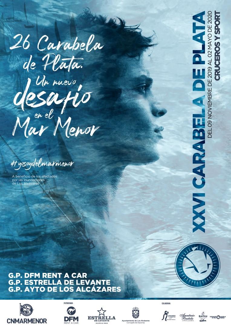 """ABIERTAS INSCRIPCIONES PARA EL TROFEO XXVI CARABELA DE PLATA. """"Un desafío en el Mar Menor""""."""