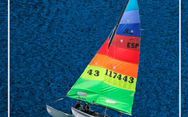 José María y Carmen Fanlo, terceros en el Campeonato de España de Catamaranes